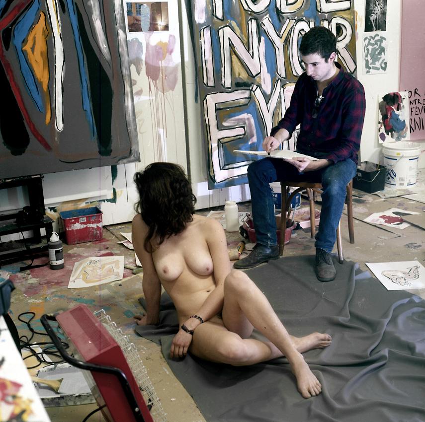 01-Le peintre&son modèle