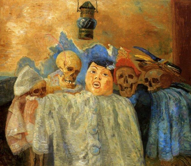 james-ensor-pierrot-et-squelettes