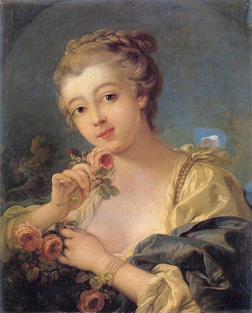boucher-jeune-fille-au-bouquet-de-roses-1