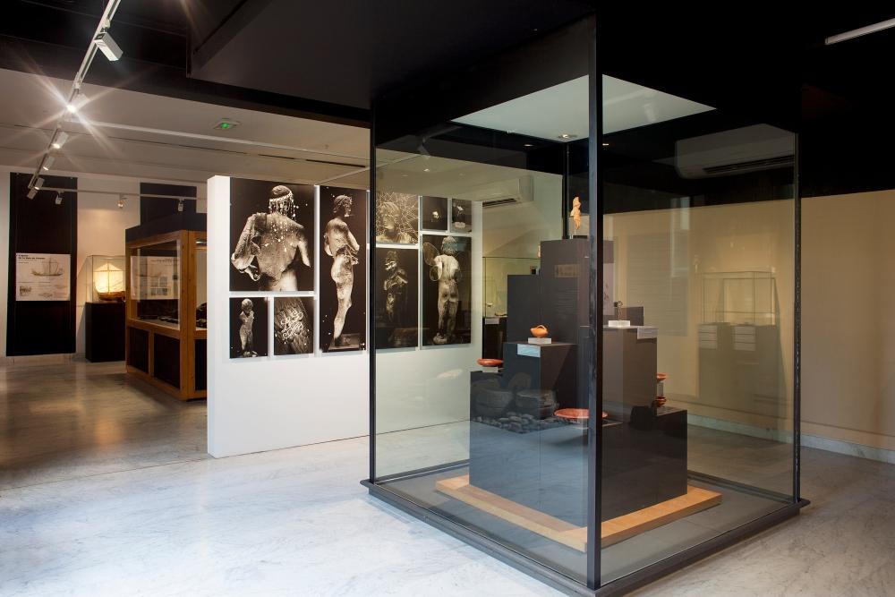 vue d'expo_Sous l'eau, le feux !_Anita Gauran_Mur de rayogrammes_Agde_2017_2000px_Production Musée de l'Éphèbe d'Agde