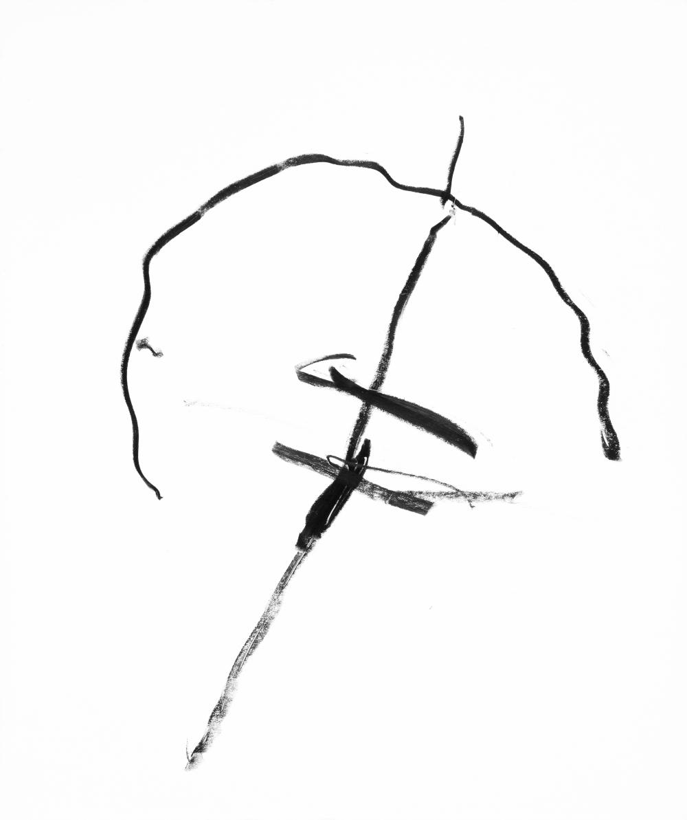 dessin au crayon gras, 1976