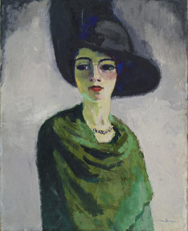La dame au chapeau noir -Van Dongen- Женщина в чёрн