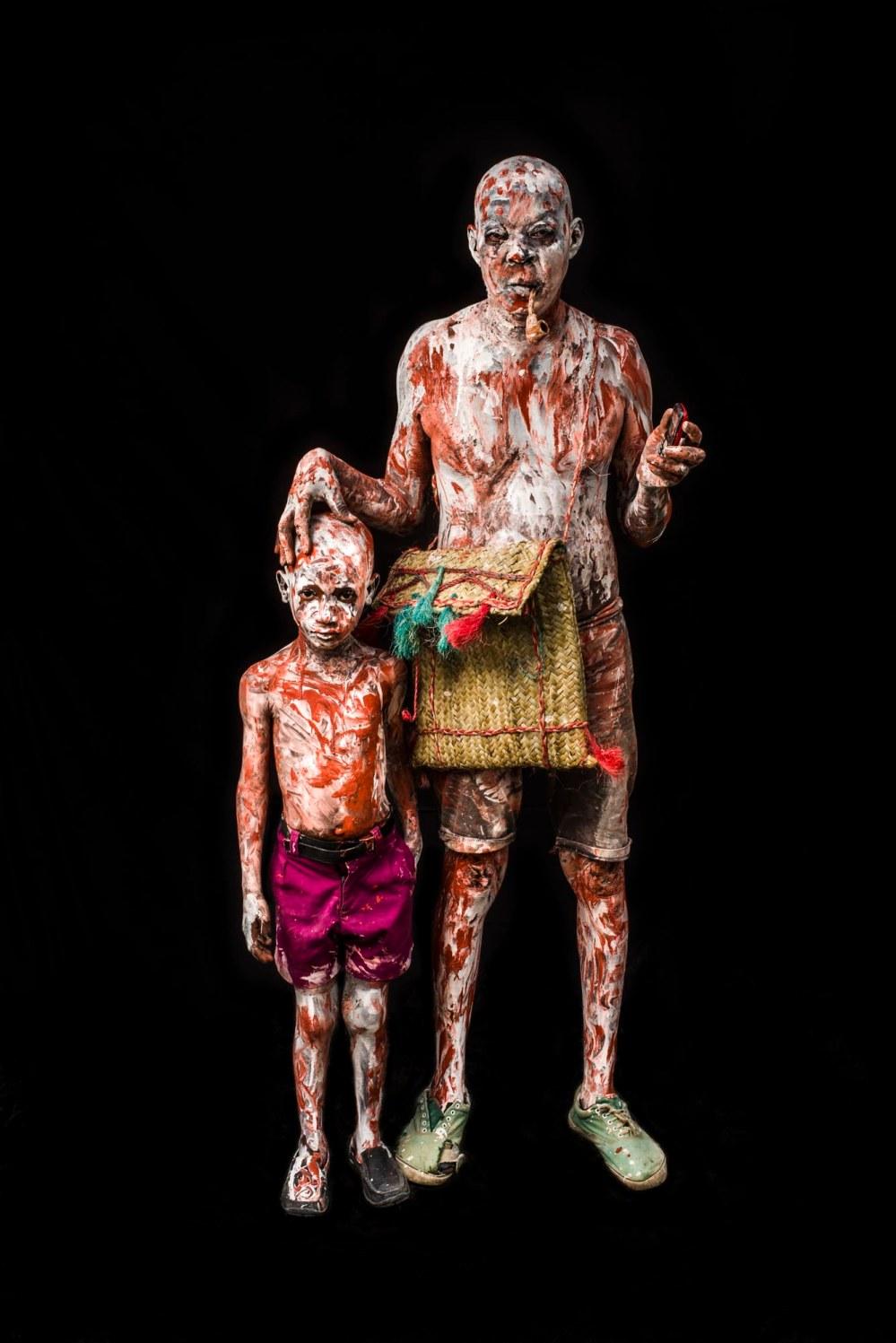 PORTRAITS DE COSTUMES LORS DU CARNAVALE DE JACMEL, HAITI 2016.