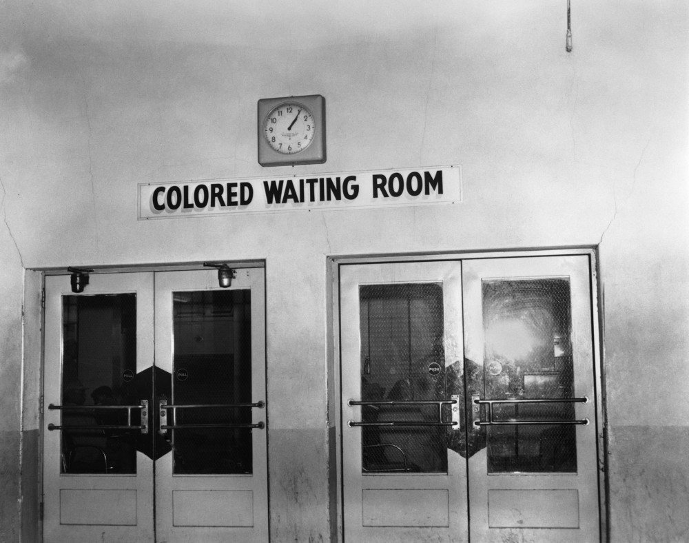 Segregated waiting room in Memphis bus station, Ernest Withers