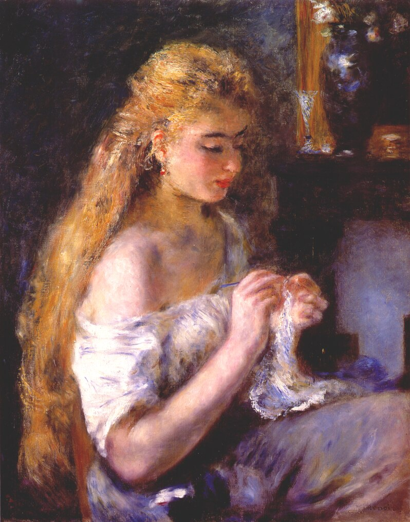 Pierre-Auguste_Renoir_-_Girl_crocheting