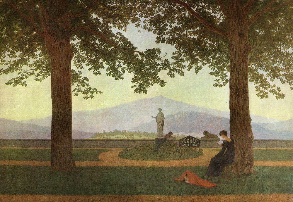 Caspar_David_Friedrich_-_Gartenterrasse_(Schlossterrasse,_Blick_von_der_Terrasse_des_Schlosses_Erdmannsdorf)