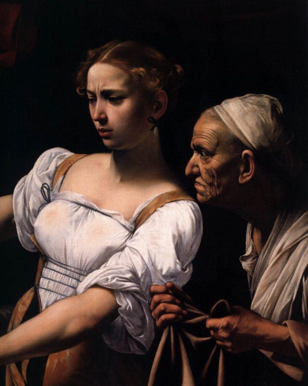 Caravage-Judith-décapitant-Holopherne-v.-1598-huile-sur-toile-145-x-195-cm-Rome-Galleria-Nazionale-dArte-ANtica.-détail2-1040x1304