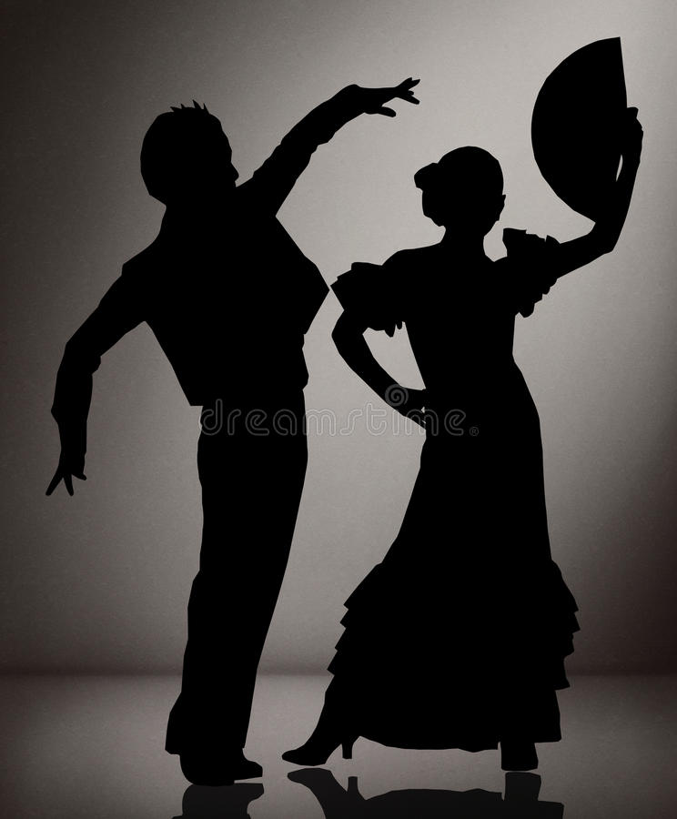 couples-des-danseurs-de-flamenco-sur-le-fond-noir-et-blanc-57899948