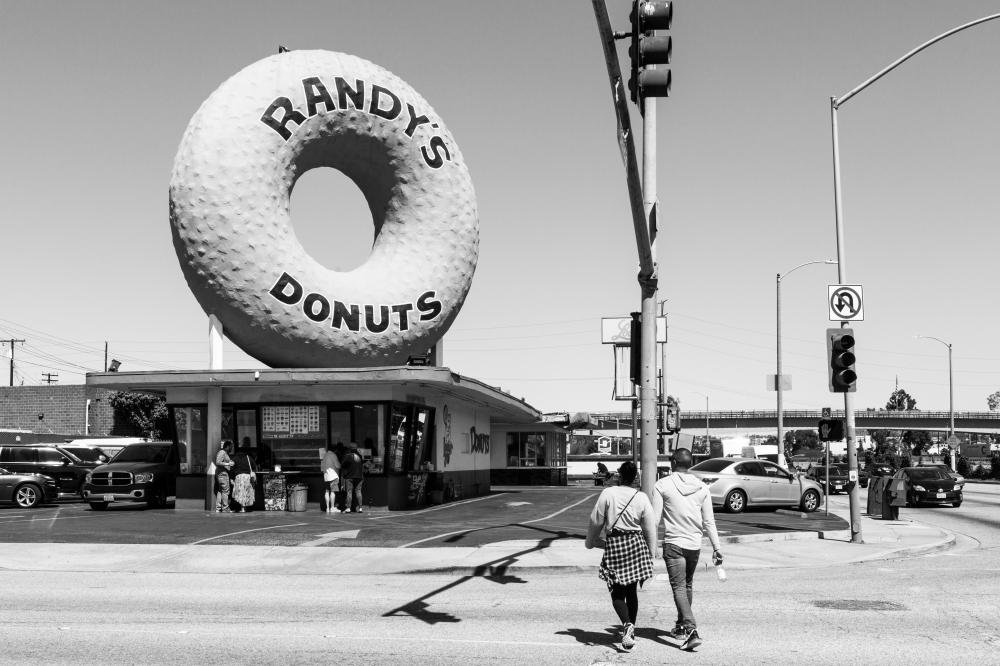 Randy's Donuts, Inglewood, Los Angeles, California, USA, March 2018