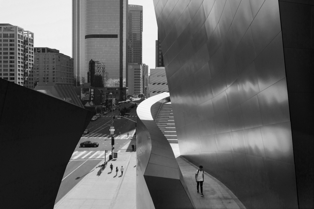 Walt Disney Concert Hall, Downtown Los Angeles, California, USA, March 2018