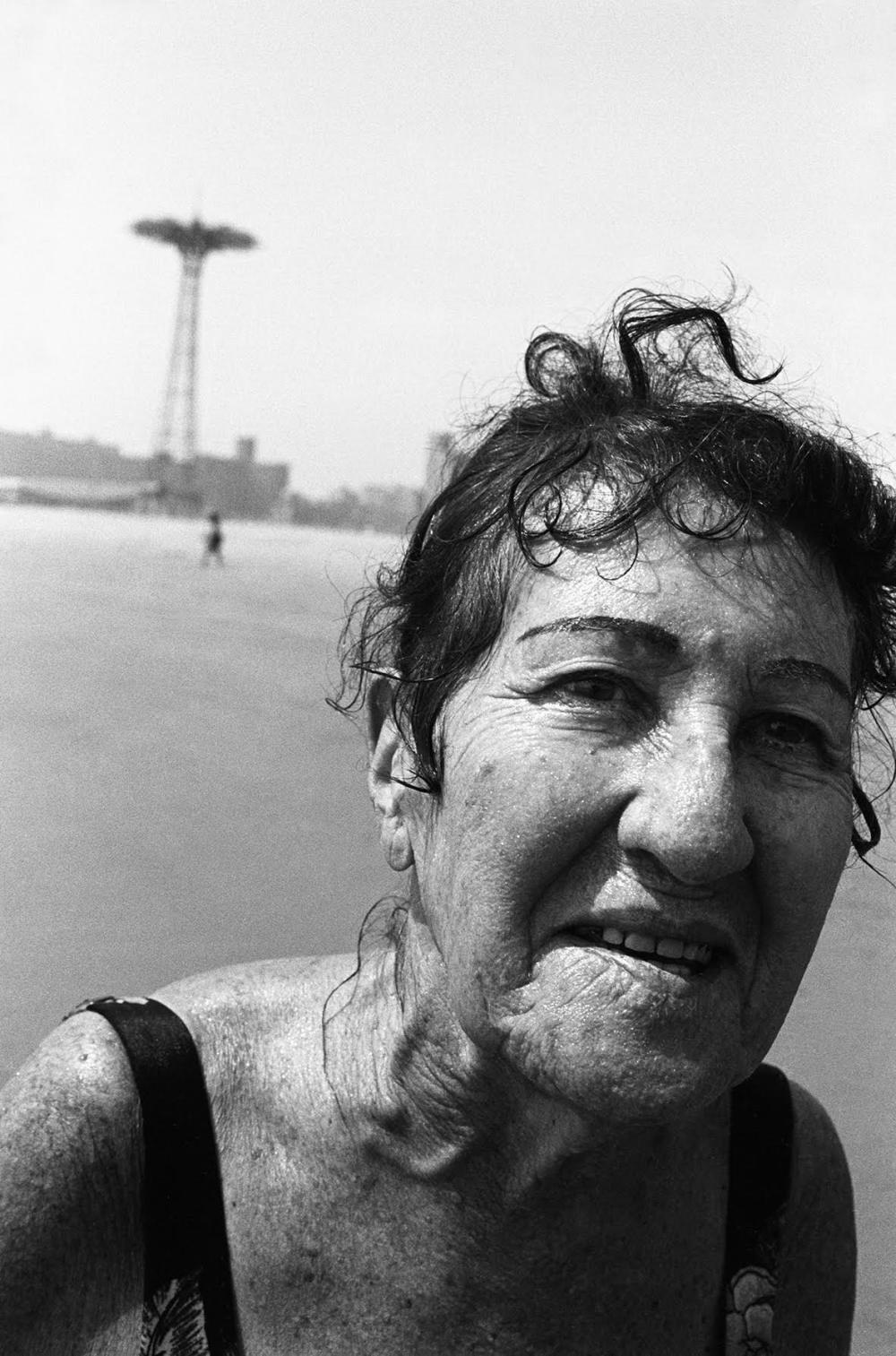 A woman, Coney Island