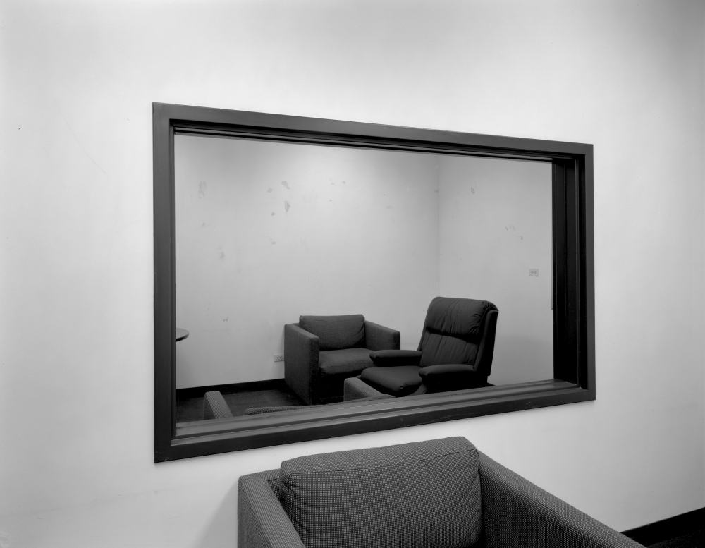 3- LC - Untitled (Observation Room with two-way mirror) 1980-1989. 21.5 x 27.5cm