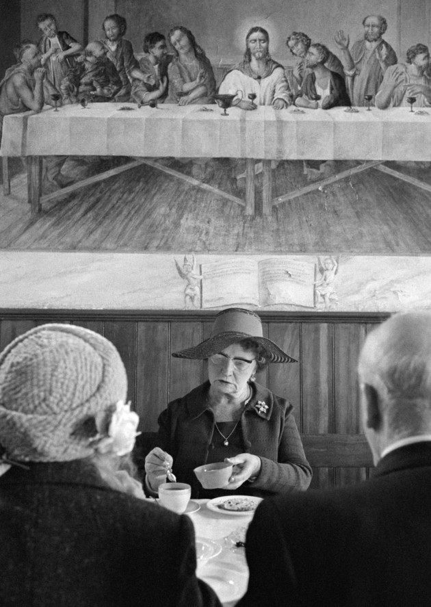 Halifax. Steep Lane Baptist Chapel buffet lunch. 1976. ©Martin Parr / Magnum Photos