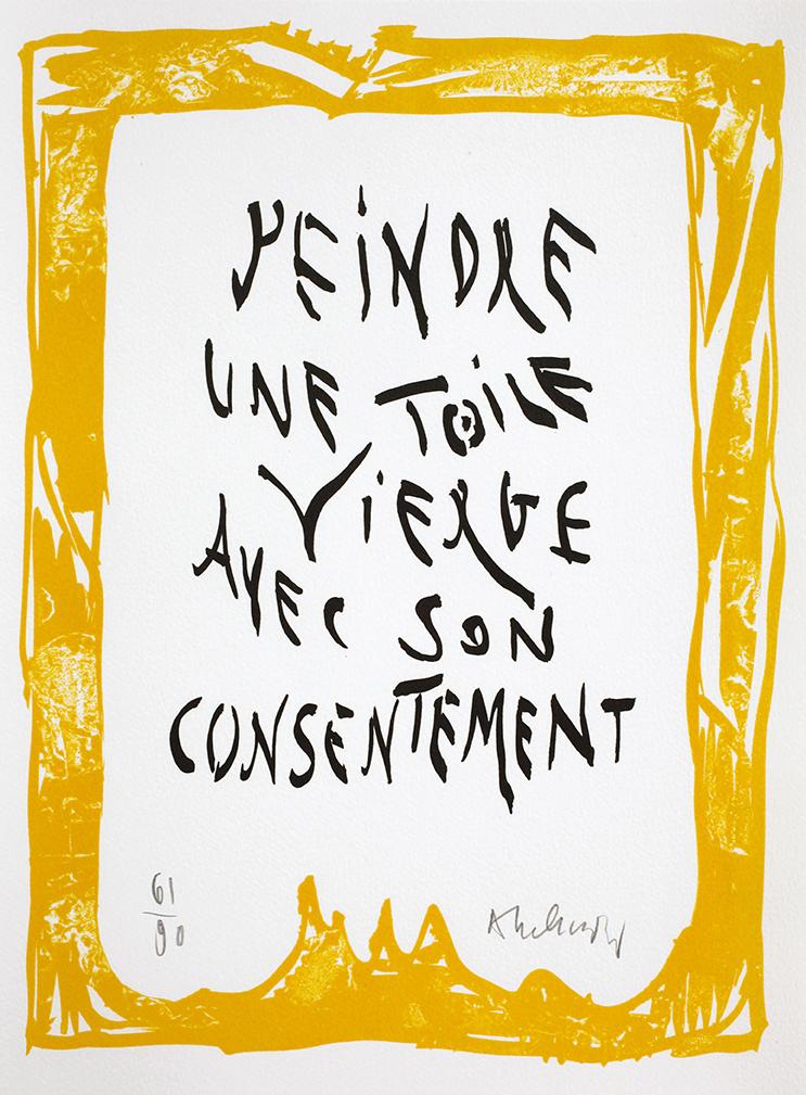 3.Alechinsky-lithographie in _Mots_, 2011-Fata Morgana éditeur