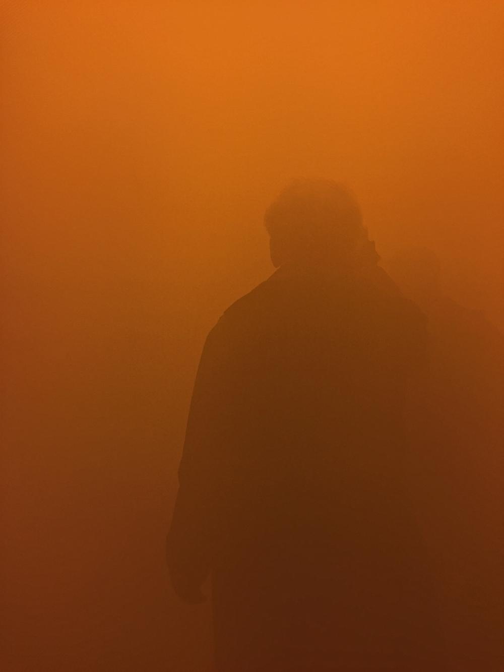 couloir de brume d'Olafur Eliasson,Londres 2019