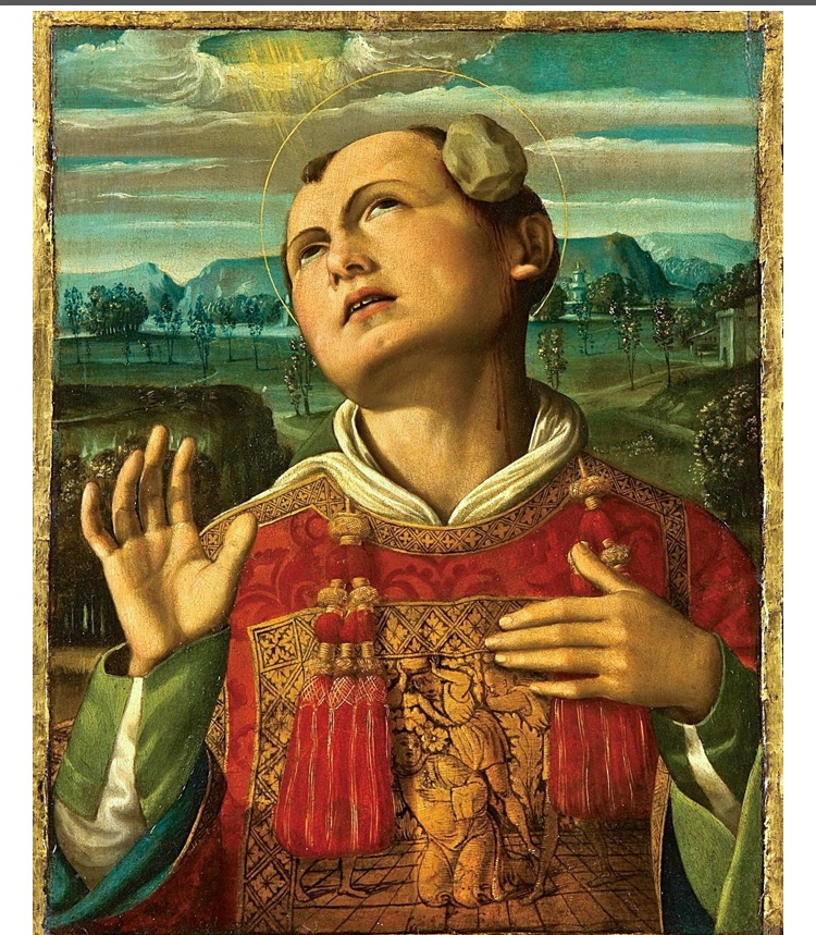 Lapidation du saint,Mantegna, Rome 2019jpg
