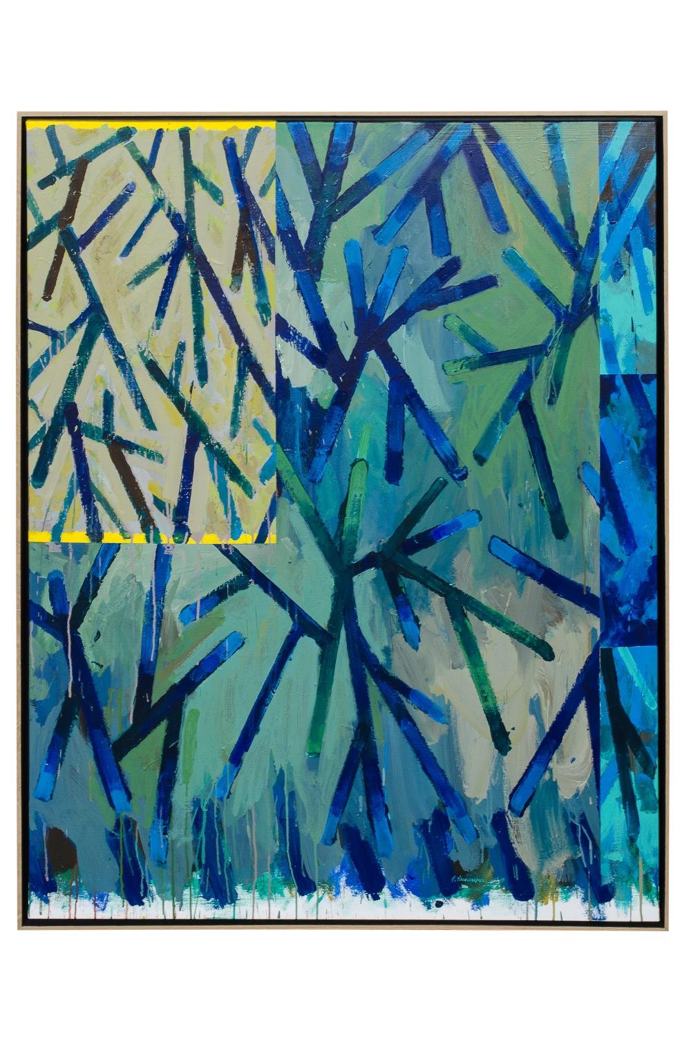 GTC Ramures - Peinture n°1, 2015, acrylique sur toile, 146 x 114 cm