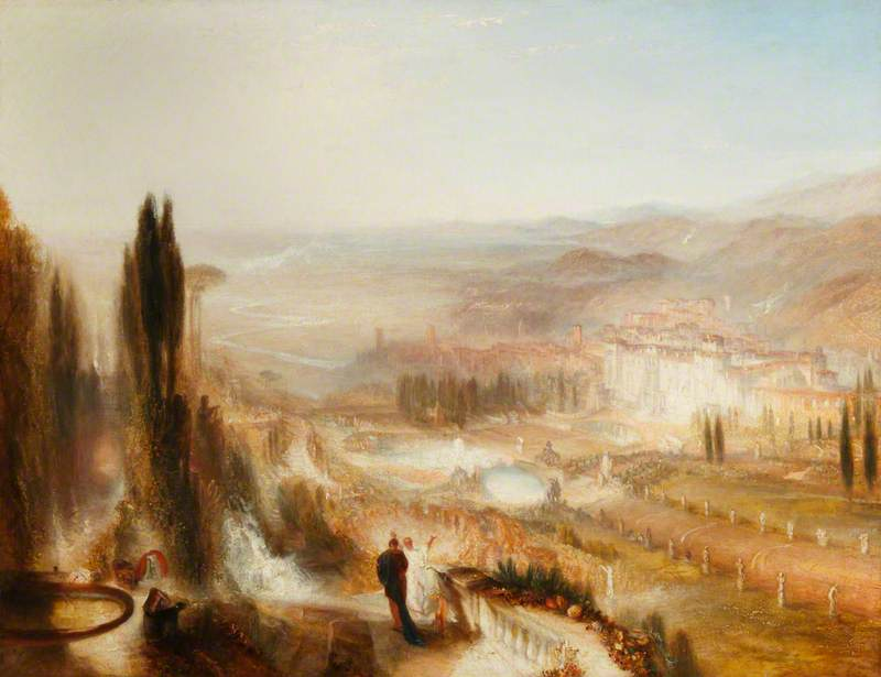Turner, Joseph Mallord William, 1775-1851; Cicero at His Villa at Tusculum