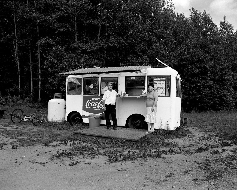 Camion à lait, route 155, Grandes-Piles, Province du Québec