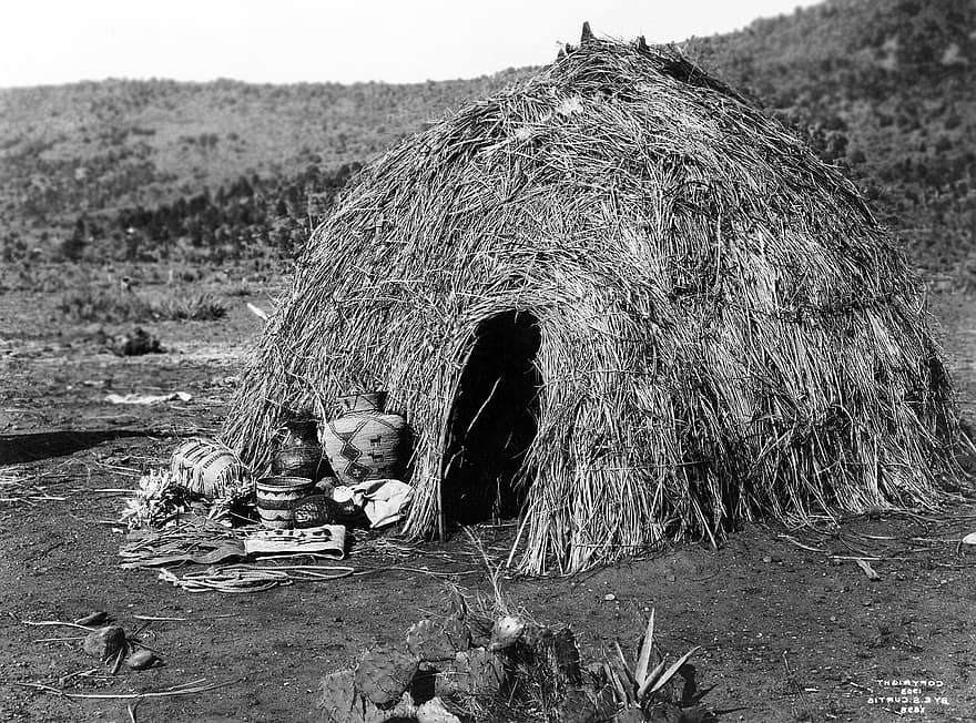 wigwam-indians-apache-residential-structure-hats-aeta-native-american-black-and-white