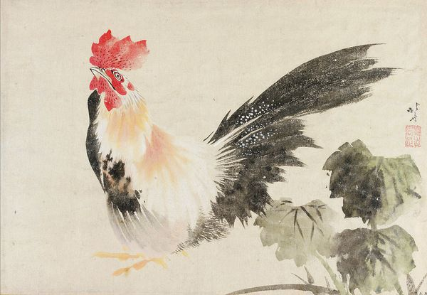 Coq-Hokusai-estampe-tiree-album-peintures-datant-Bunka-V-VI-vers-1808-1809_1