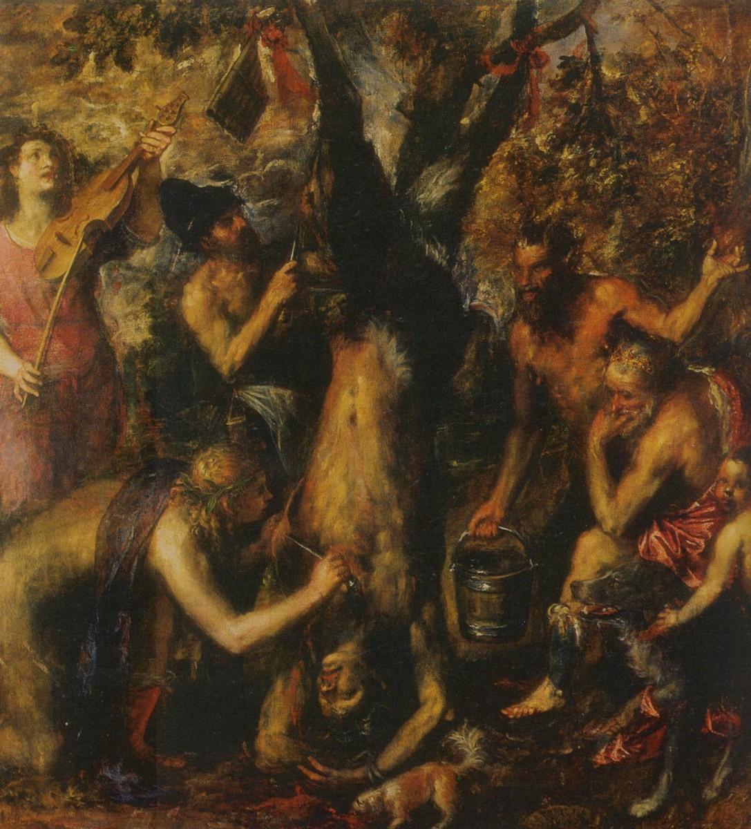 1570 1576 Titien Le Supplice de Marsyas