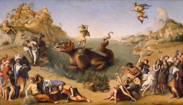 Piero di Cosimo, Perseus u.Andromeda - Piero di Cosimo/Perseus u.Andromeda/1515 - Piero di Cosimo, Persée libère Andromède