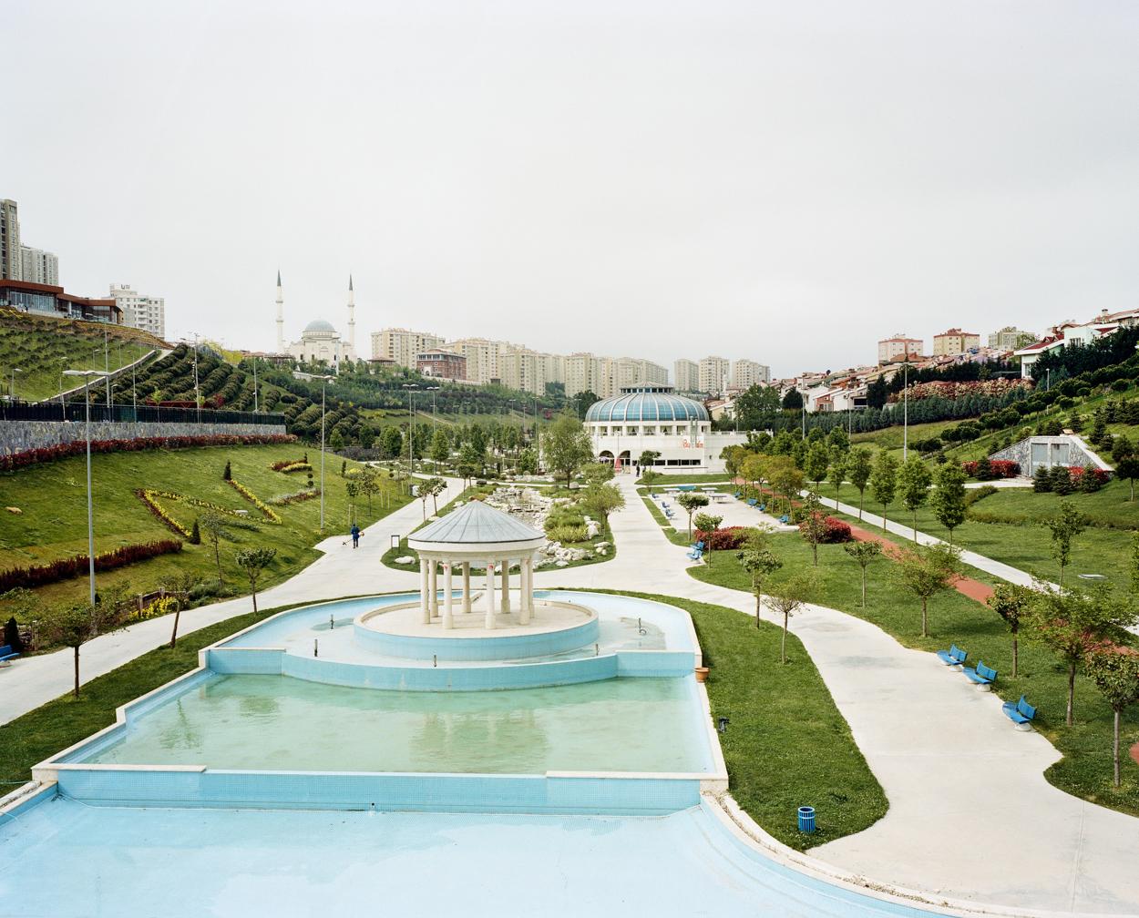 Quartier de Basaksehir dans la pŽriphŽrie ouest dÕIstanbul. Turquie